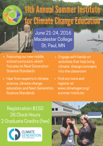 11th annual summer institute for climate change education