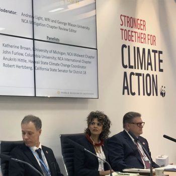 Presenters at Climate Action Center panel