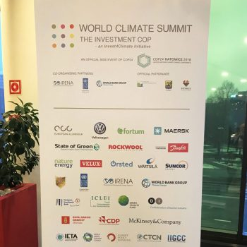 Banner for World Climate Summit
