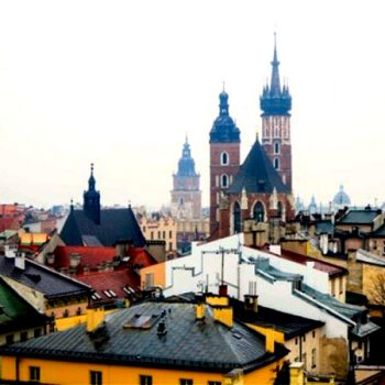rooftops of Cracow, Poland