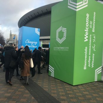 Welcome signs at COP24