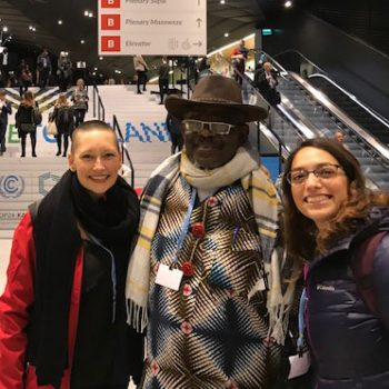 Michelle with two COP24 attendees