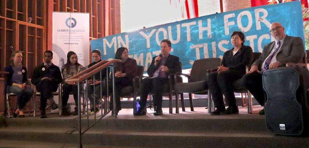 Legislative panel at the Youth Climate Justice Summit