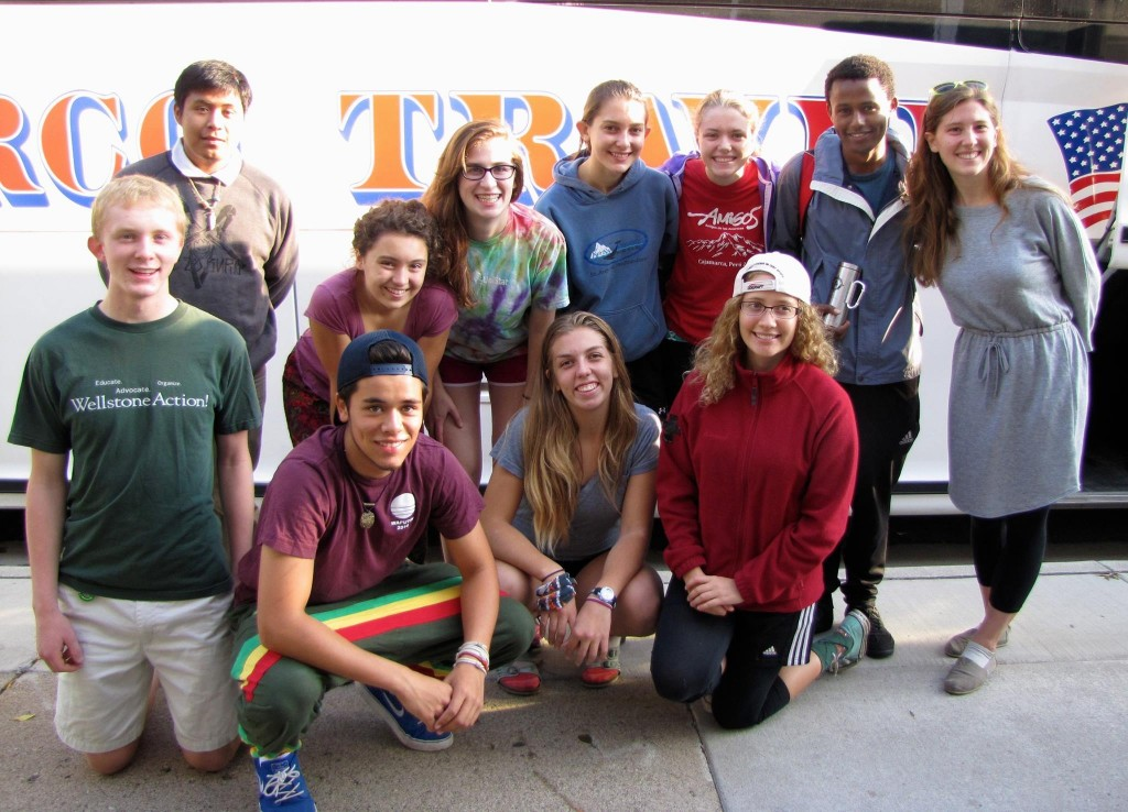 YEA! MN students on their way to the People's Climate March in NYC, Sept 2014