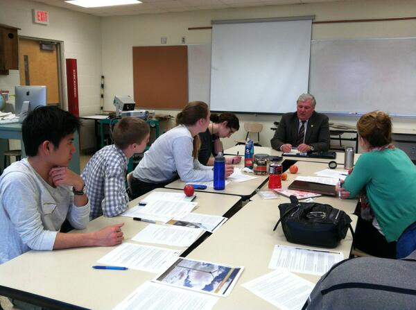 Apple Valley High School Students meet with Senator Clausen in District 57