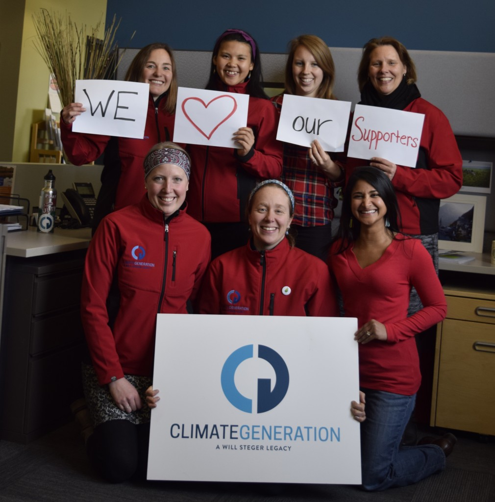 The Climate Generation team shares some Valentine's Day love for our wonderful supporters. We love your commitment to climate action and our work!
