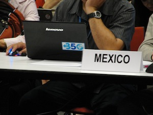 Mexico is at the table and supports 350