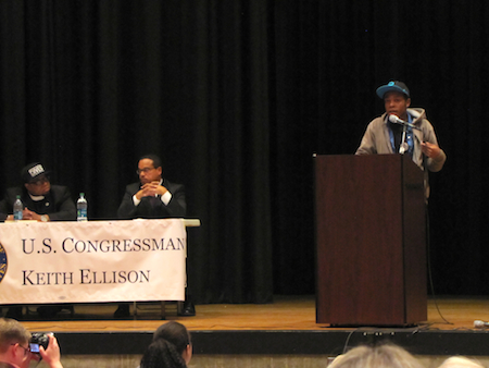 High school leaders from YEA! MN and EJAM worked together to prepare questions for Rep. Ellison and Reverand Yearwood