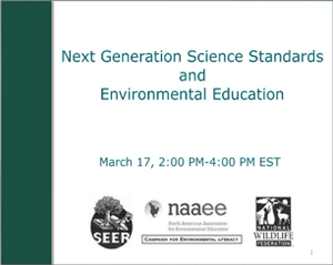 Next Generation Science Standards and Environmental Education