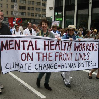 Mental Health workers at the People's Climate March, New York, 2014