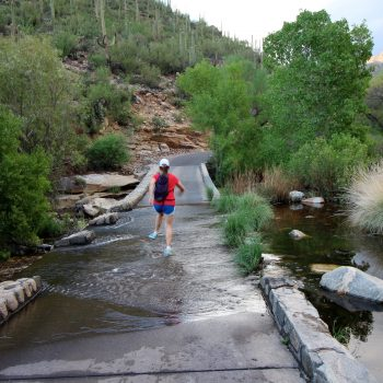 My daughter enjoying a summer hike in Sabino Canyon before a summer monsoon storm in 2016