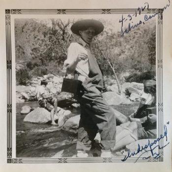 My great aunt enjoying water in Sabino Canyon in Tucson, AZ in 1927