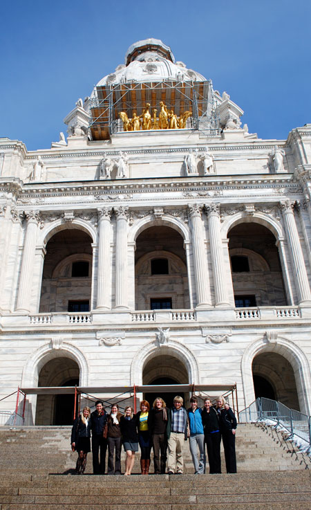 Student leaders outside the MN State Capitol