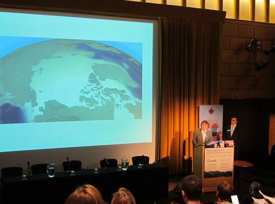 Will Steger and Martin Loken at the 2011 Changing Arctic Symposium