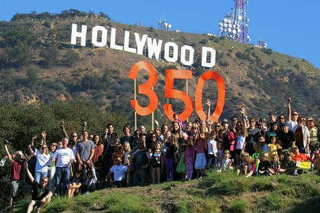 hollywood-350-sign-climate-action