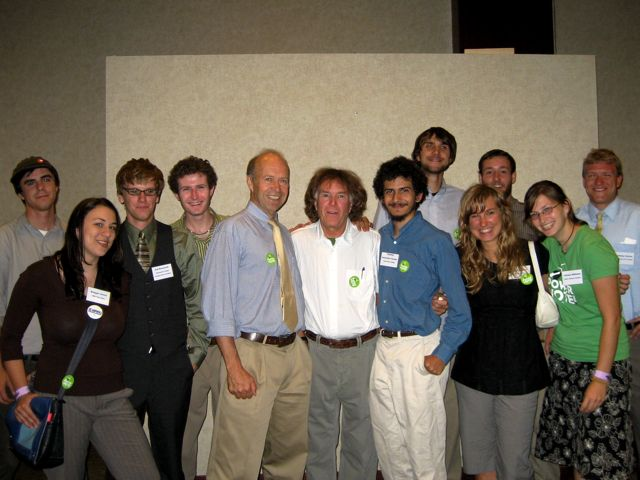Jim Hansen with Students