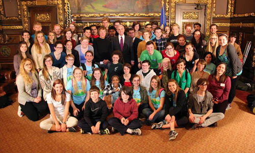 Minnesota Youth Meet with Governor Dayton
